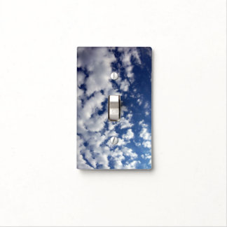 Puffy Clouds On Blue Sky Light Switch Cover