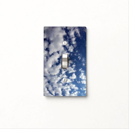 Puffy Clouds On Blue Sky Light Switch Covers