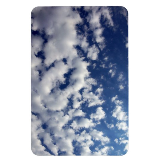 Puffy Clouds On Blue Sky Magnet
