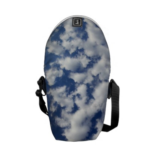 Puffy Clouds On Blue Sky Messenger Bag