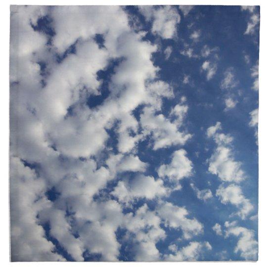 Puffy Clouds On Blue Sky Napkin
