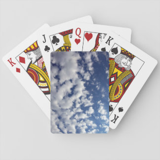 Puffy Clouds On Blue Sky Playing Cards