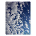 Puffy Clouds On Blue Sky
