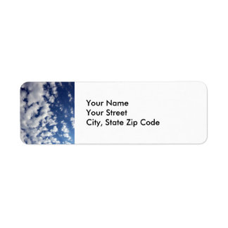 Puffy Clouds On Blue Sky return address label