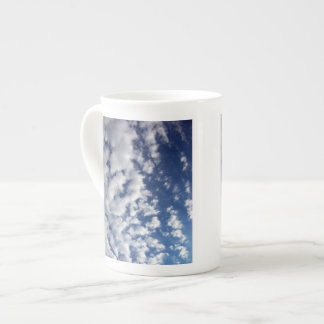 Puffy Clouds On Blue Sky Tea Cup