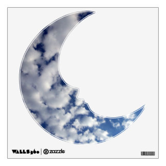 Puffy Clouds On Blue Sky Wall Sticker
