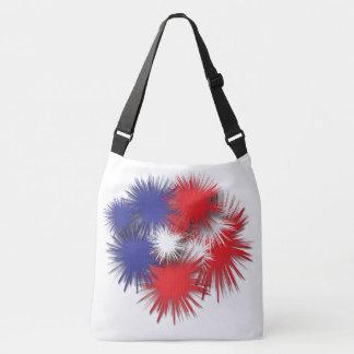 Puffy flag and stripes crossbody bag