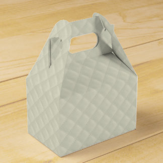 Puffy Ivory Quilted Leather Bridal Favor Box