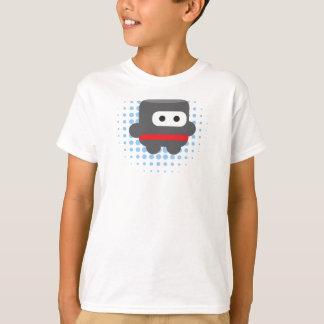 Puffy Ninja Tshirt Blue Halftone Pattern