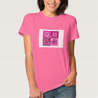 Puffy Pink Heart Design Shirts