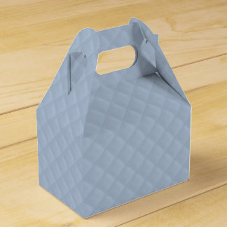 Puffy Powder Blue Quilted Leather Bridal Favor Box