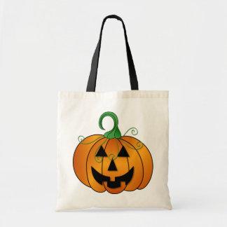 Puffy Pumpkin Canvas Bag