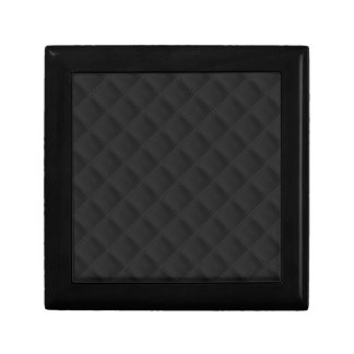Puffy Stitched Black Quilted Leather Jewelry Boxes