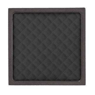 Puffy Stitched Black Quilted Leather Premium Jewelry Box