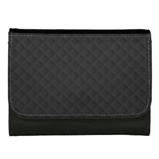 Puffy Stitched Black Quilted Leather Wallets
