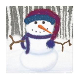 Puffy The Snowman Canvas Print