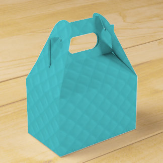 Puffy Tiffany Aqua Quilted Leather Bride Favor Box