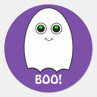 Puffy Toon Ghost Boo Halloween Sticker