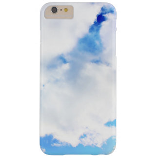 Puffy White Clouds and Blue Sky Barely There iPhone 6 Plus Case