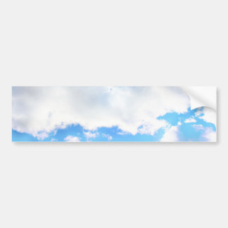 Puffy White Clouds and Blue Sky Bumper Sticker