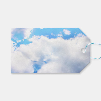 Puffy White Clouds and Blue Sky Gift Tags