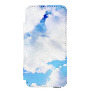 Puffy White Clouds and Blue Sky Incipio Watson™ iPhone 5 Wallet Case
