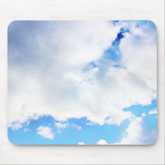 Puffy White Clouds and Blue Sky Mouse Pad