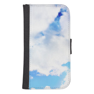 Puffy White Clouds and Blue Sky Phone Wallet Cases