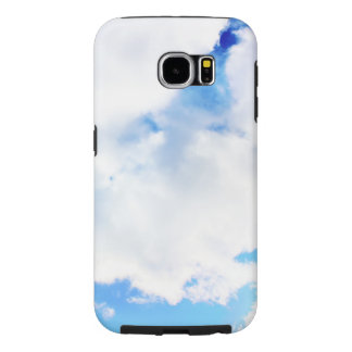 Puffy White Clouds and Blue Sky Samsung Galaxy S6 Case