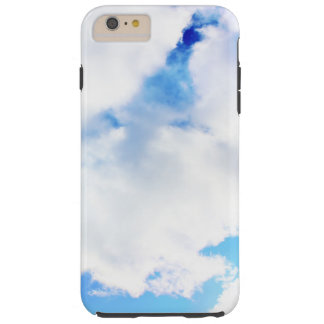 Puffy White Clouds and Blue Sky Tough iPhone 6 Plus Case