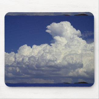 PUFFY WHITE CLOUDS BLUE SKY PHOTOGRAPHY SCENIC BEA MOUSE PAD