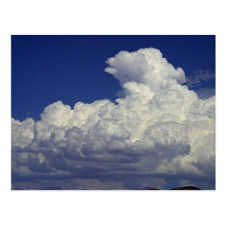 PUFFY WHITE CLOUDS BLUE SKY PHOTOGRAPHY SCENIC BEA POSTCARD