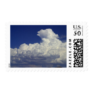 Puffy white Clouds, Sky, Landscapes, photography, Postage