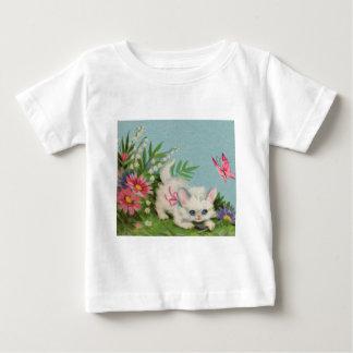 Puffy White Kitten Baby T-Shirt