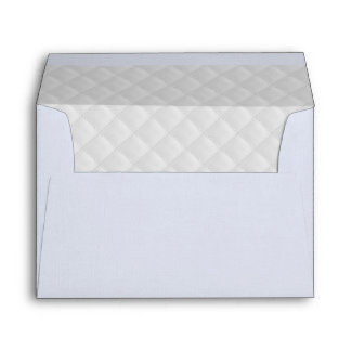 Puffy White Quilted Leather 5x7 Lining Envelope