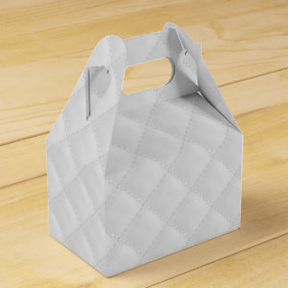 Puffy White Quilted Leather Bridal Favor Box