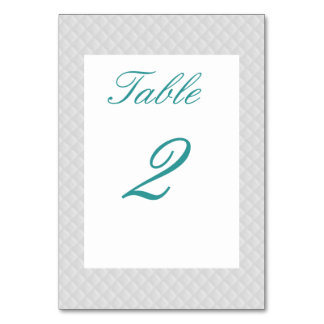 Puffy White Quilted Leather Table Card