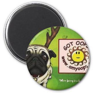 pug2 2 inch round magnet