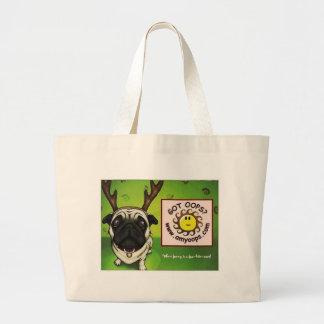 pug2 large tote bag