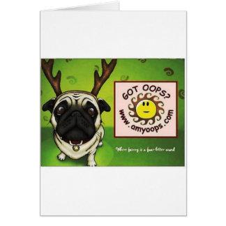 pug2 tarjeta de felicitación