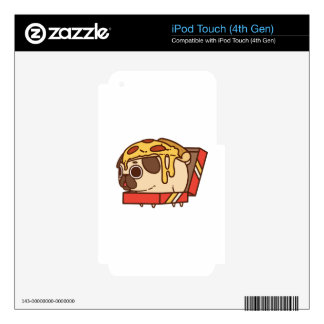 Pug-01 pizza decal for iPod touch 4G