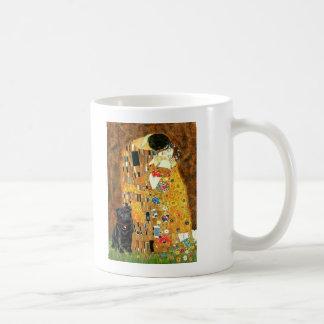 Pug 13 (black) - The Kiss Coffee Mug