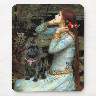 Pug 14 (black) - Ophelia Seated Mouse Pad