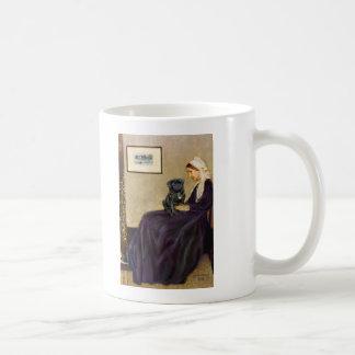 Pug 14 (black) - Whistler's Mother Coffee Mug