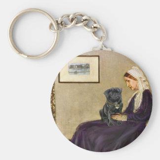 Pug 14 (black) - Whistler's Mother Keychain
