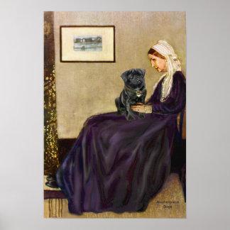 Pug 14 (black) - Whistlers Mother Print