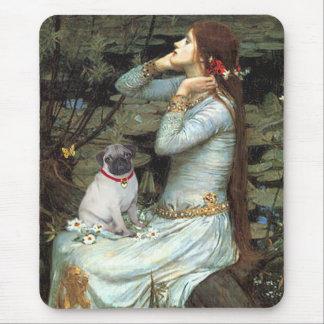 Pug 14 (fawn pup) - Ophelia Mouse Pad