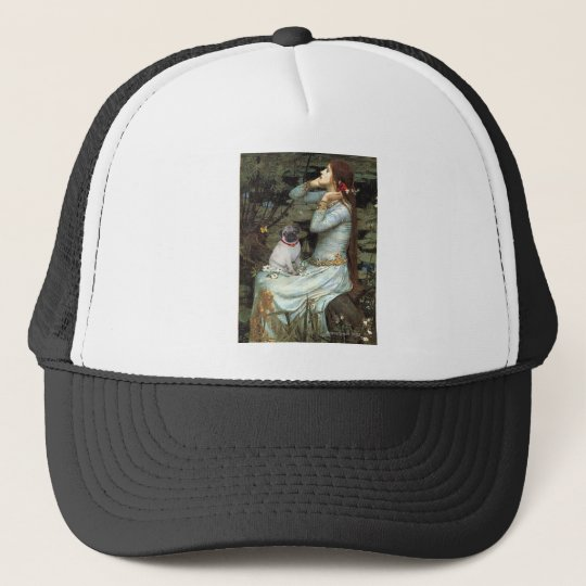 Pug 14 (fawn pup) - Ophelia Trucker Hat