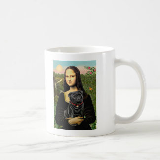 Pug 16 (black) - Mona Lisa Coffee Mug