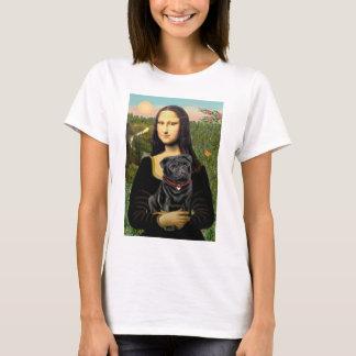 Pug 16 (black) - Mona Lisa T-Shirt